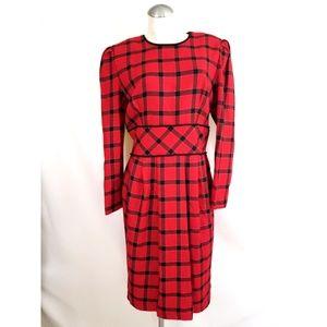 Maggy Boutique Size 14 Christmas Plaid Dress